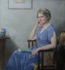 Exhibited 1930's Female Portrait by Bertram Priestman Richard Taylor Fine Art