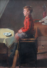 School Boy Cricketer by British Slade School Richard Taylor Fine Art