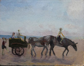 caroline hutchinson  - donkeys beach - whitley bay -richard taylor fine art