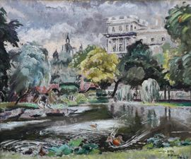 Post Impressionist Green Park London by Cathleen Mann Richard Taylor Fine Art