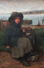 Victorian portrait genre Scottish marine oil by Charles Andrew Sellar  Richard Taylor Fine Art