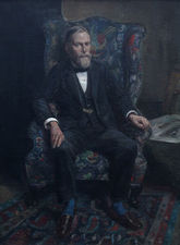 charles cundall - british  portrait philip joubert - richard taylor fine art