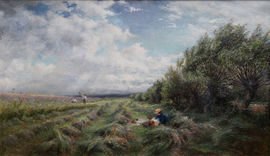 ../British Impressionist landscape by Charles James Lewis  Richard Taylor Fine Art