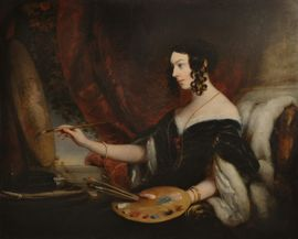 Portrait of Mrs Mary Milnes Gaskell by Christina Robertson  Richard Taylor Fine Art