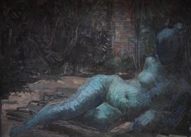 ../constance anne  parker - reclining nude - Richard Taylor Fine Art