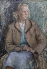 Portrait of a 1950's Lady by Constance Anne Parker Richard Taylor Fine Art