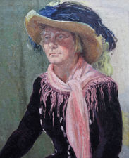 ../constance anne parker lady in a straw hat - richard taylor fine art