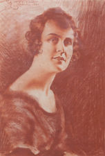 ../Roaring Twenties Portrait of a Lady by Count Mario Grixoni Richard Taylor Fine Art
