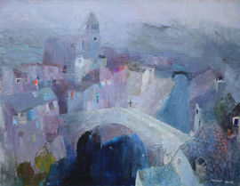 Mostar Bridge Landscape by Daphne Fedarb Richard Taylor Fine Art