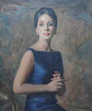 Scottish 1960's Female Portrait by David Cowan Dobson Richard Taylor Fine Art
