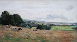 ../Cattle in a Panoramic Landscape by David Forrester Wilson   Richard Taylor Fine Art