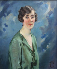 dorothy elaine vicaji- art deco portrait of a lady -  richard taylor fine art