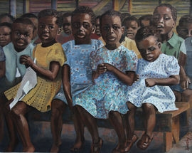 Tomorrow's Africa school children oil painting by Dorothy Gourley Richard Taylor Fine Art