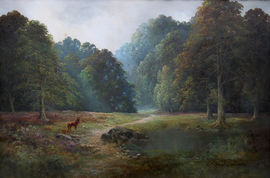 Balmoral Deer Landscape by Douglas Falconer Richard Taylor Fine Art