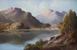 Loch Alsh by Douglas Falconer Richard Taylor Fine Art