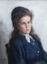 Scottish Portrait of a Girl by David Foggie Richard Taylor Fine Art