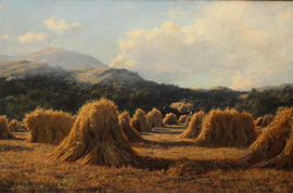../Brig O Turk Scottish Harvest by Duncan Cameron Richard Taylor Fine Art