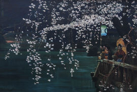 E B Powell Japanese Cherry Blossom Richard Taylor Fine Art