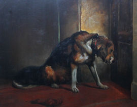 British Edwardian Dog portrait by E Stott Richard Tatylor Fine Art