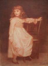 Pre-Raphaelite Portrait by Edward Robert Hughes Richard Taylor Fine Art