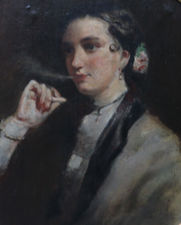 Edwin Long - Edwardian Portrait Woman Smoking - Richard Taylor Fine Art