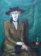 Art Deco Portrait of a Woman by Eileen Wyon Richard Taylor Fine Art