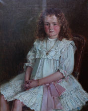 Young Girl Portrait by Ernest Higgins Rigg Richard Taylor Fine Art