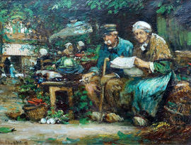 flora macdonald reid - the courting couple - richard taylor fine art
