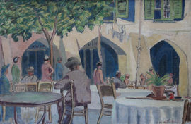 Cafe Porto Fino Italy by Forrest Hewit Richard Taylor Fine Art