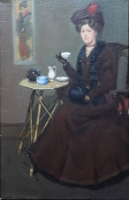 Scottish Edwardian Interior Portrait by Francis Wilson Richard Taylor Fine Art