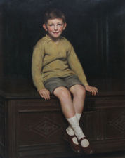 Portrait of a Boy John Rew by Frank Percy Wild Richard Taylor Fine Art