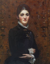 ../Victorian Female Portrait by Frederick Samuel Beaumont Richard Taylor Fine Art