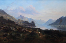 Scottish Loch by Frederick Henry Henshaw Richard Taylor Fine Art