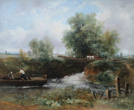 Frederick Waters Watts The Stour Constable Country British Landscape Richard Taylor Fine Art