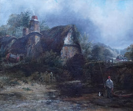 Constable country Mill landscape by Frederick Waters Watts Richard Taylor Fine Art