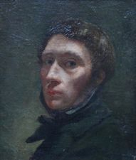 French Old Master Self Portrait Possibly Delacroix or Courbet Richard Taylor Fine Art