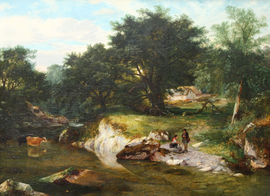 British Victorian Pastoral by George Cole Richard Taylor Fine Art