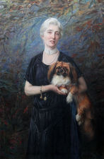 Ann Charlton Harrison Portrait by George Hillyard Swinstead Richard Taylor Fine Art