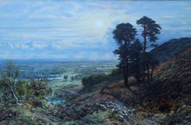 ../British Victorian Surrey landscape oil painting George William Mote Richard Taylor Fine Art