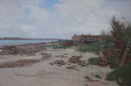 Scottish Impressionist  Loch Shoreline by George Houston Richard Taylor Fine Art