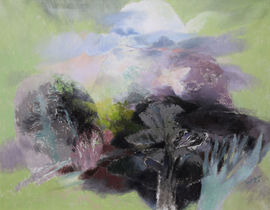 glyn  morgan -landscape with a white bird - richard taylor fine art