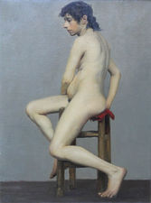 ../Victorian Female Nude Portrait by Herbert Wilson Foster Richard Taylor Fine Art
