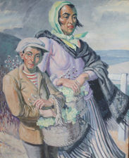 harold dearden -primrose sellers  - british oil painting - richard taylor fine art