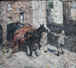 harry fidler - st ives cornwall - british impressionist -richard taylor fine art