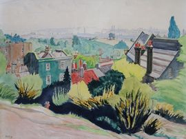 Hampstead Heath London by Harry Kernoff Richard Taylor Fine Art