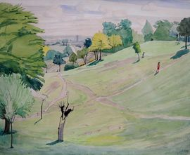 Hampstead from Parliament Hill by Irish Artist Harry Kernoff Richard Taylor Fine Art
