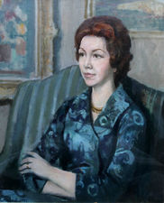 Portrait of a  Lady by Harry Rutherford Richard Taylor Fine Art