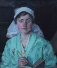 Portrait of a Nurse by Helen MacKenzie Richard Taylor Fine Art