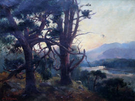 ../Sunset Landscape by Henry Jobson Bell Richard Taylor Fine Art