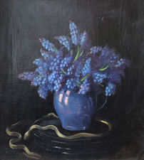 Grape Hyacinths by Herbert Davis Richter Richard Taylor Fine Art